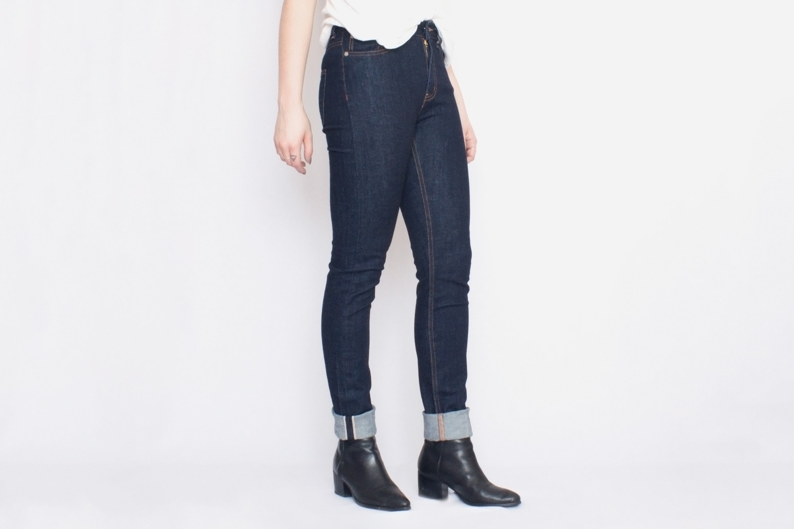 Naked and Famous Womens High Skinny Selvedge Denim Jeans