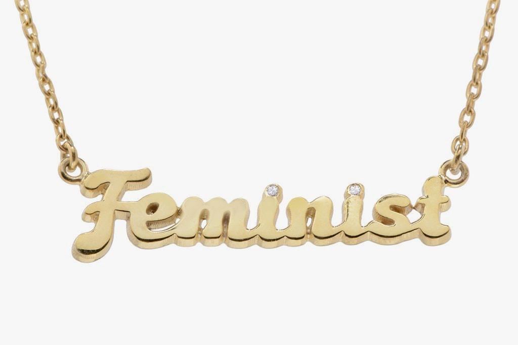Bing Bang NYC Feminist Necklace