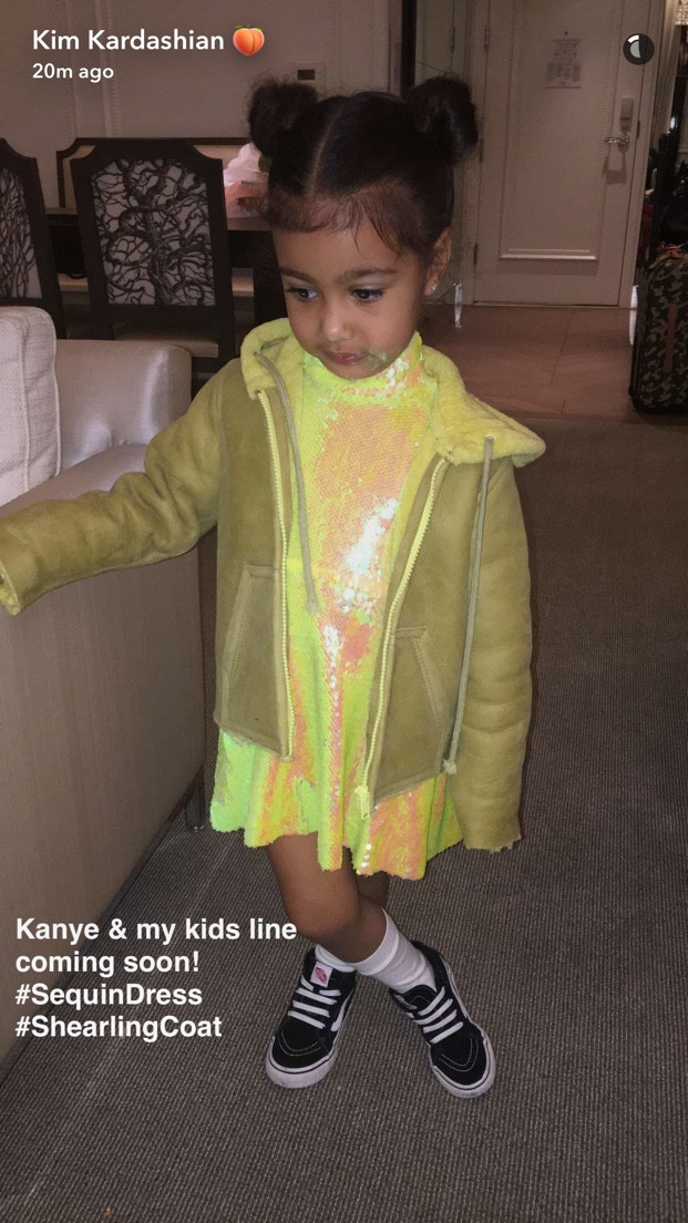 Kim Kardashian Kanye West Kids Apparel North