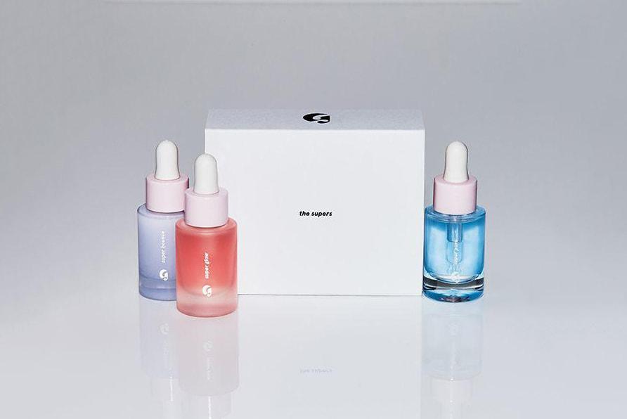 glossier super pack serum set skincare