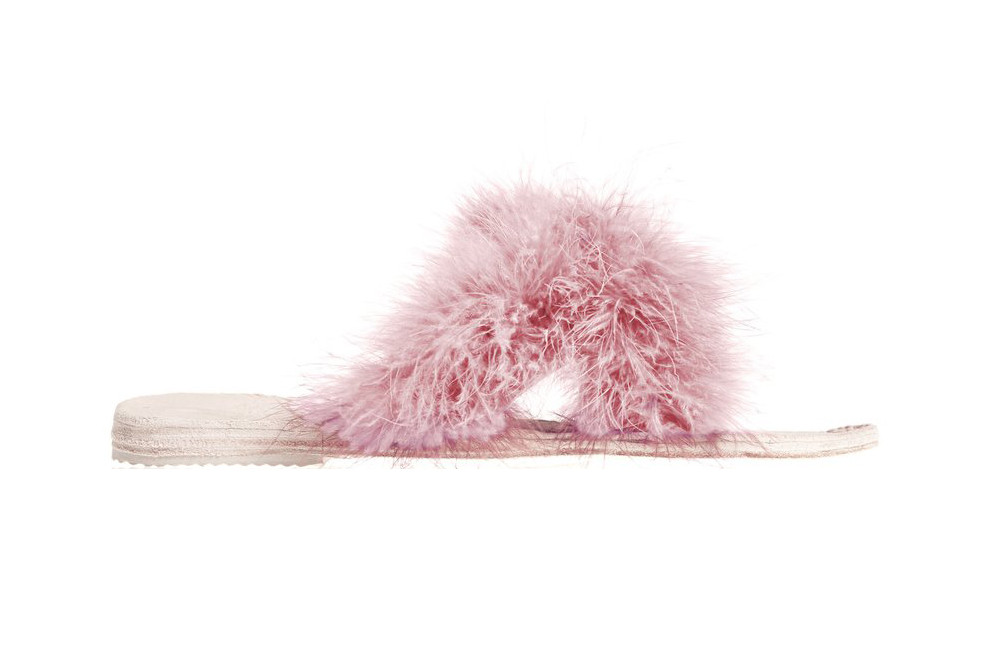 Brother Vellies Marabou Lamu Sandals Pink