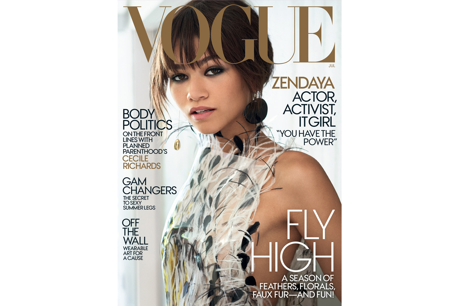 Zendaya Vogue 2017 July Cover