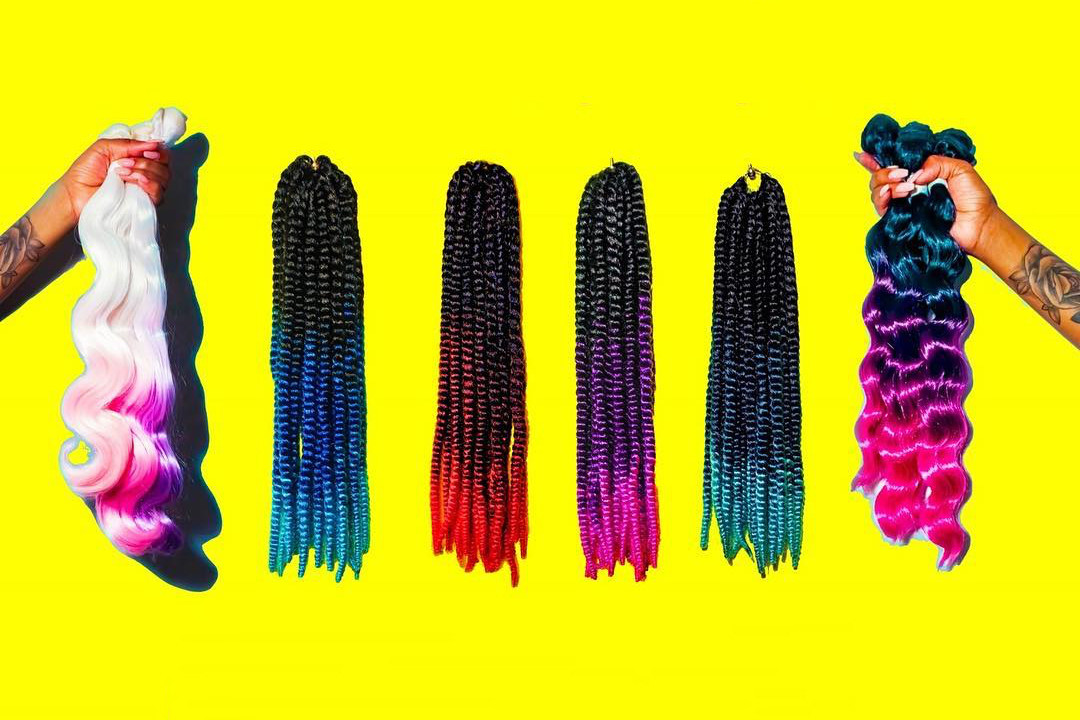 Electric Hair Ombré Braiding Hair