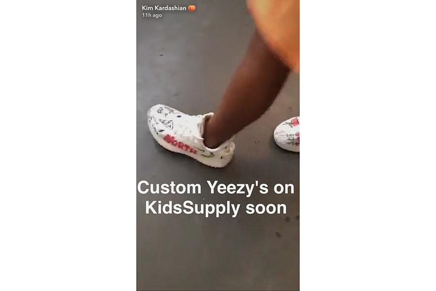 Kim Kardashian Kanye West Kids Supply 2017 July 17 Releases Bathing Suit Dress Cap Fur Slide Yeezy Boost