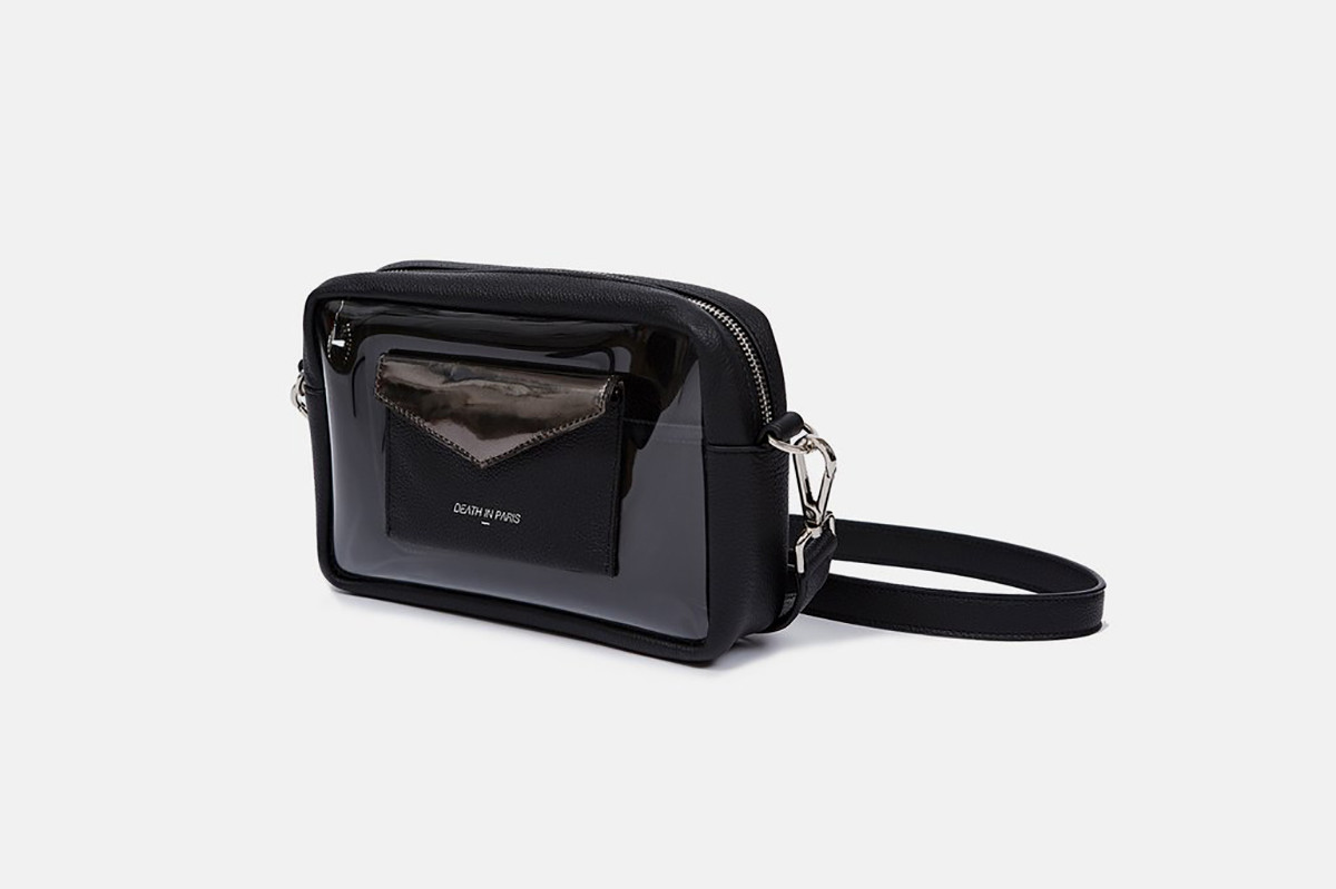 Death in Paris Bag cross body leather transparent see through
