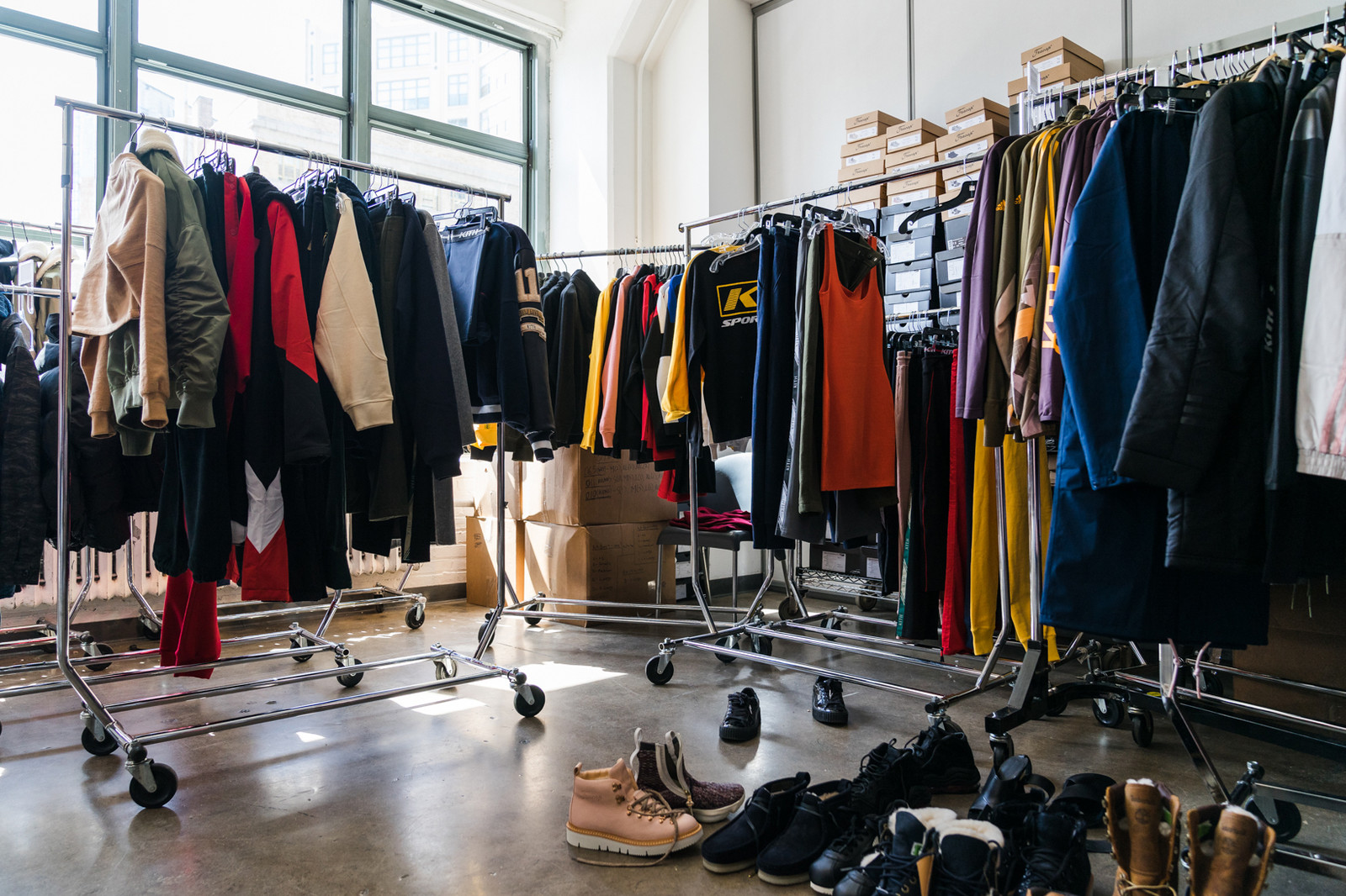Emily Oberg KITH SPORT 2018 Spring Summer Show Behind the Scenes Casting Styling