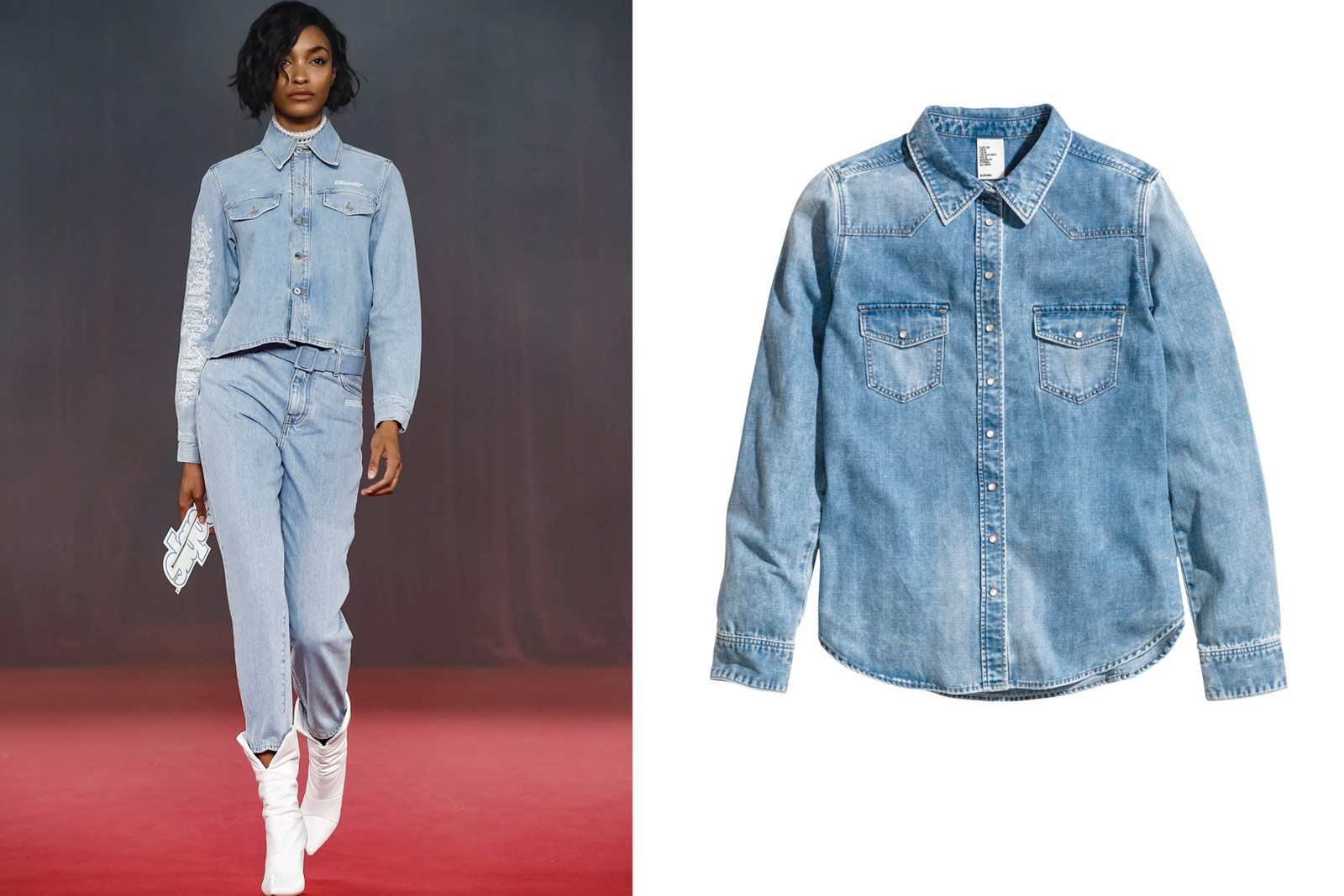Off White Spring Summer 2018 Collection Recreate Virgil Abloh Naomi Campbell Kaia Gerber Jourdan Dunn Budget