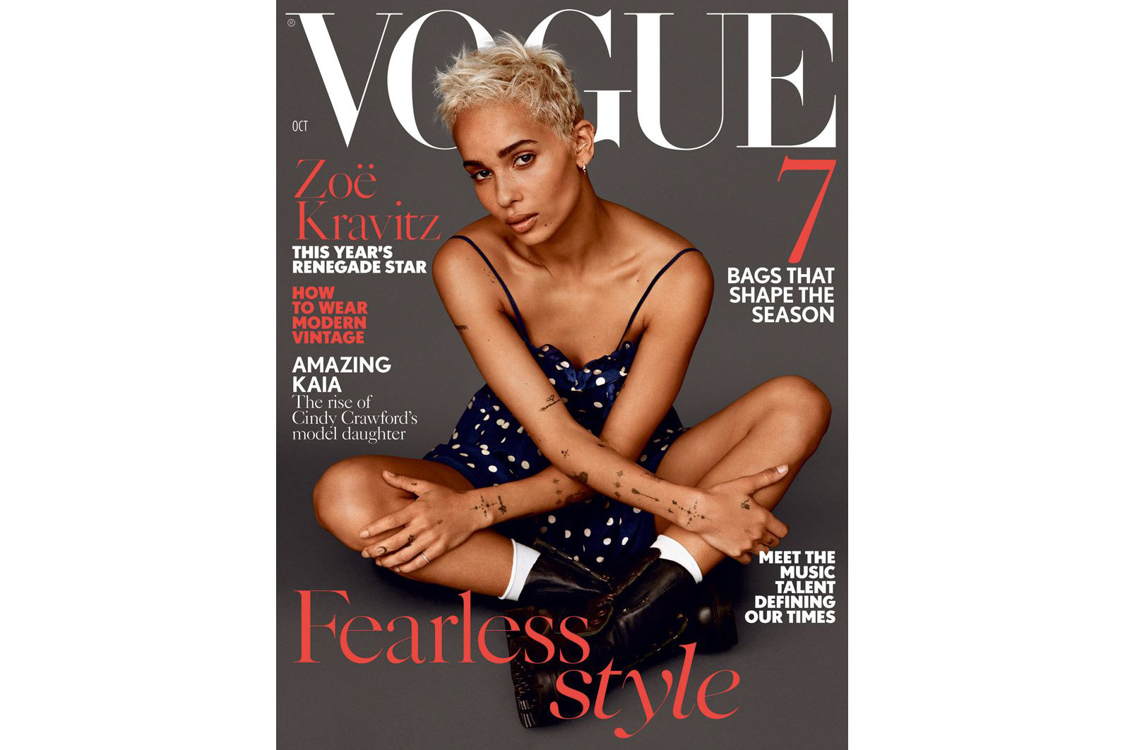 Zoe Kravitz British Vogue 2017 October Cover