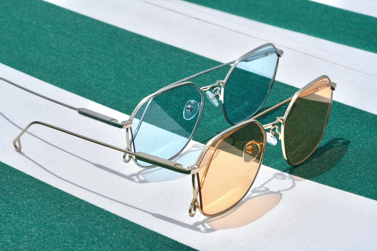 Peppertint Sunglasses Cutaway Collection Lookbook Shades Frames Metal Tint Color Hong Kong Los Angeles California Inspiration Design Classic