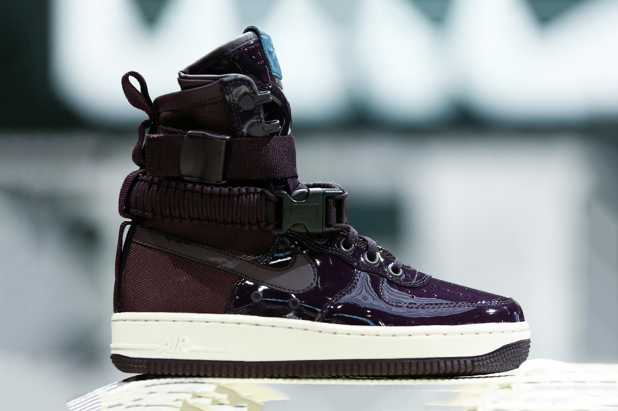 Nike Special Field Air Force 1 Port Wine Sneaker Shoe