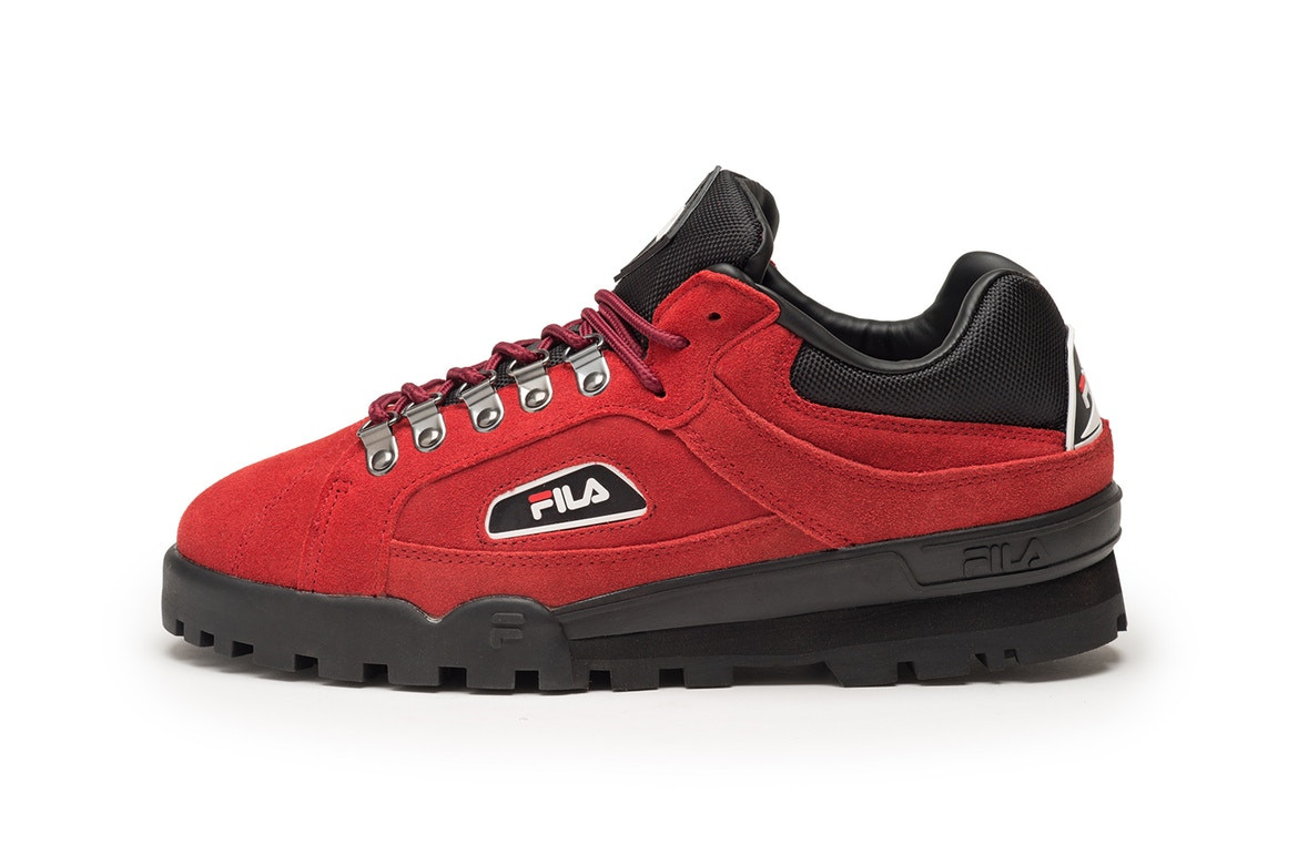 FILA Trailblazer Suede Black Red Yellow Sneaker Unisex