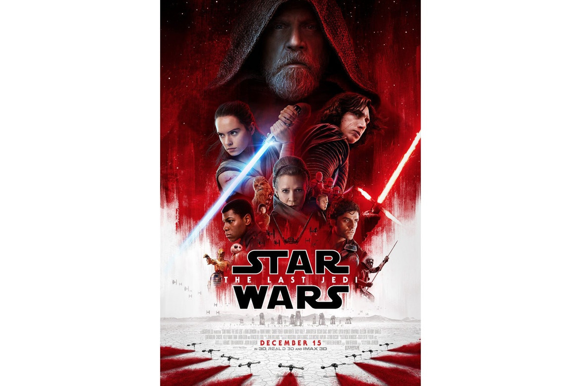 Star Wars: The Last Jedi Trailer First Look Movie Adam Driver Mark Hamill Daisy Ridley Carrie Fisher Luke Skywalker Episode 8 IIIV Poster