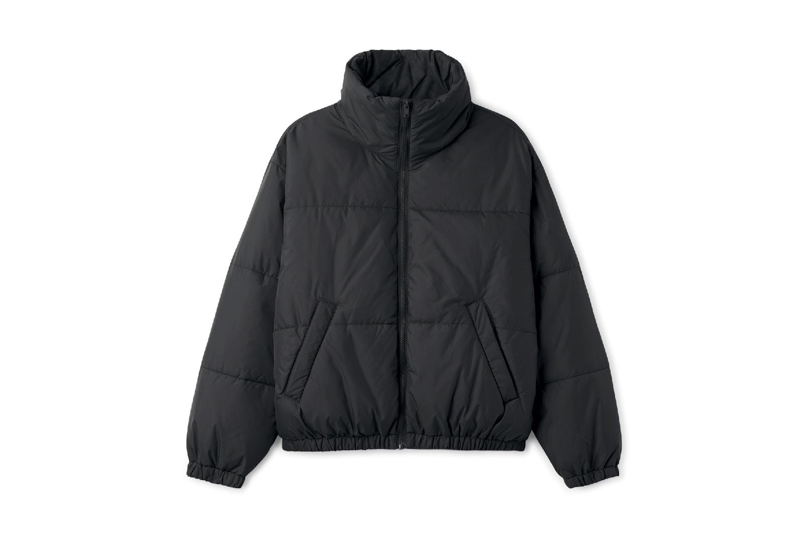 Weekday viola puffer jacket coat black red blue affordable