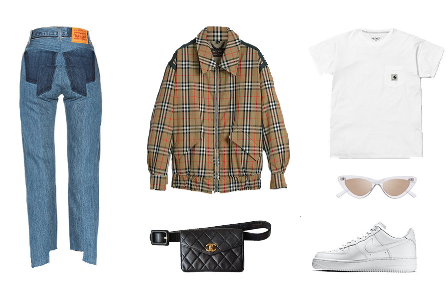 How to Style Fanny Packs Bag Outfit Inspiration Trend Alexander Wang Acne Studios Supreme Fashion Look