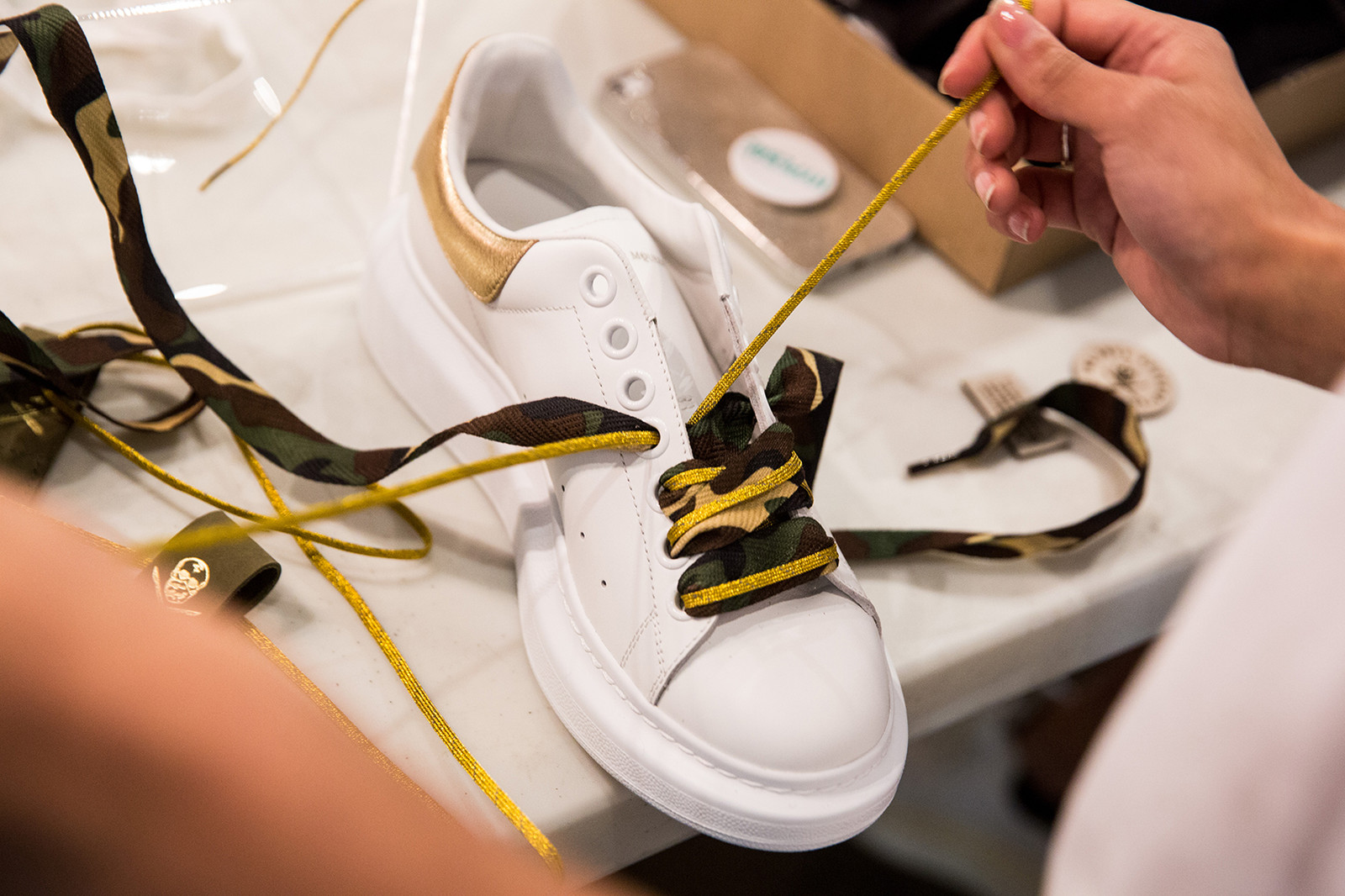 The Shoe Surgeon custom sneaker customization workshop alexander mcqueen oversized platform