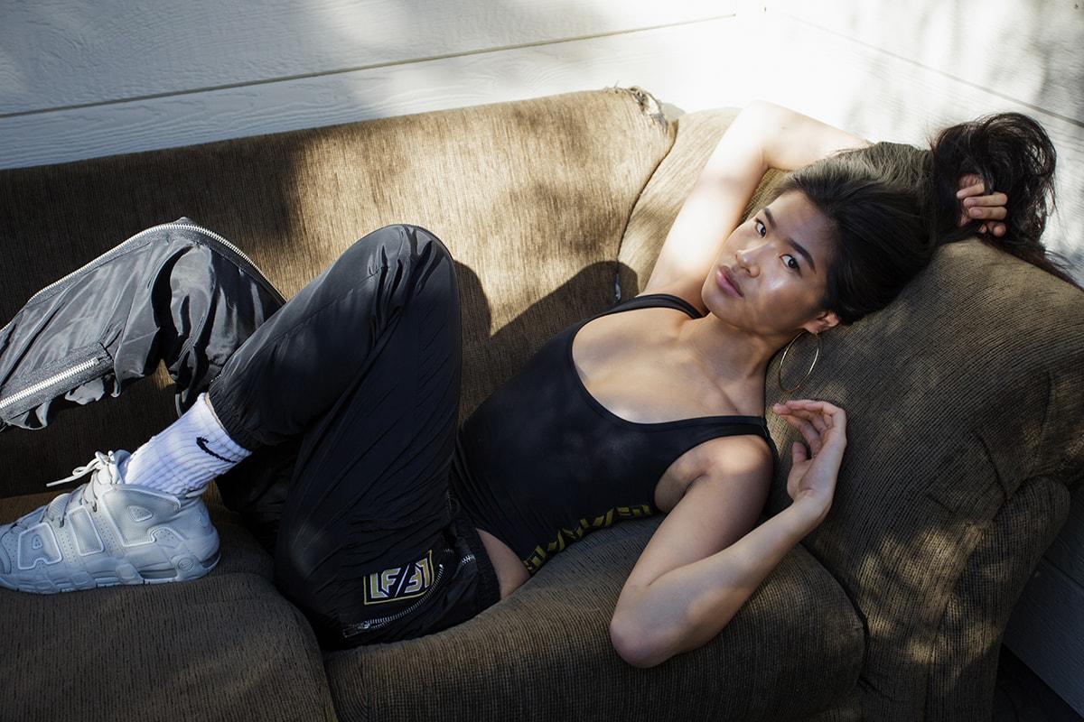 Justine Mae Biticon Americas Next Top Model ANTM Los Angeles Nike Women Asian