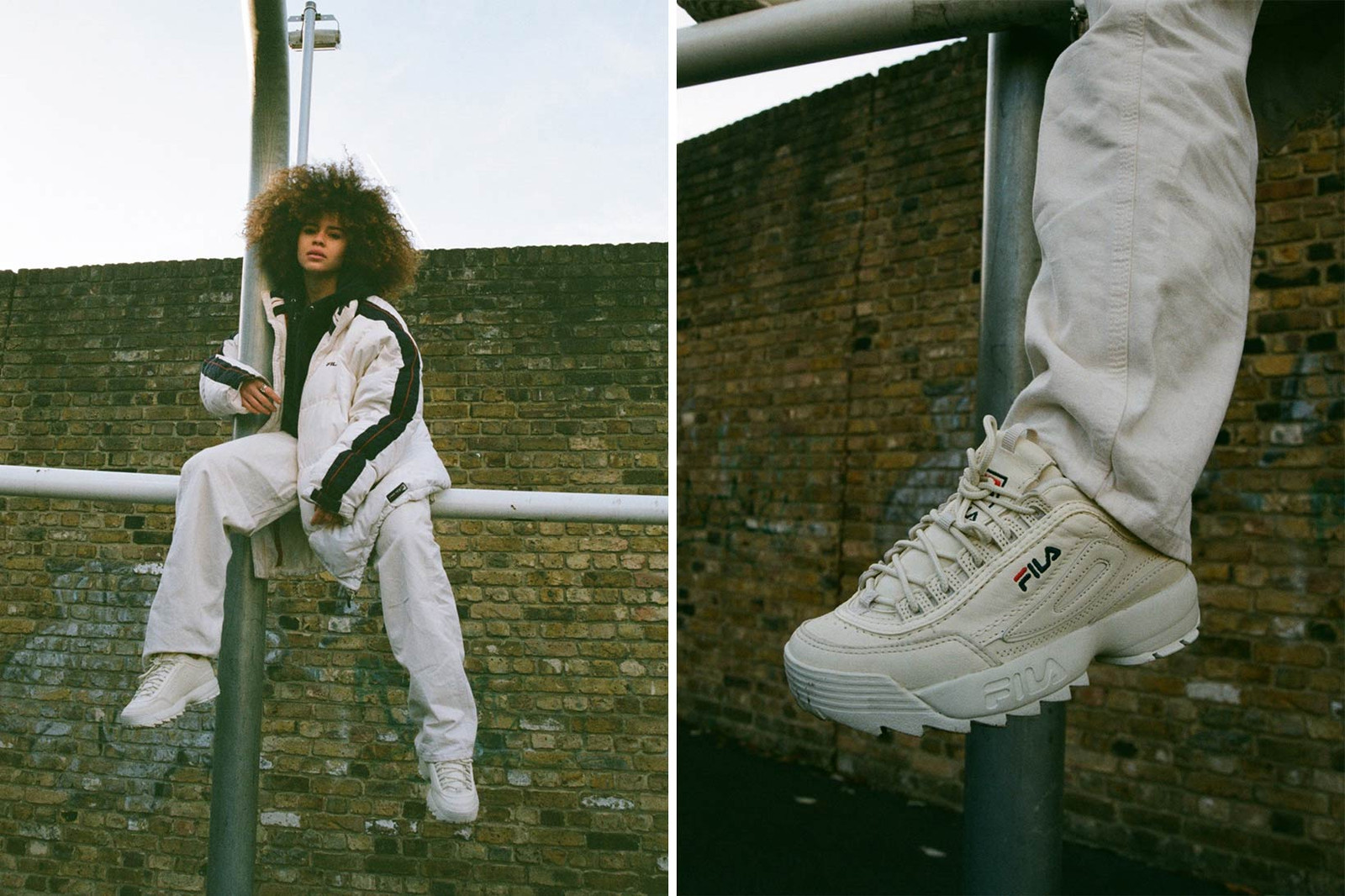 Patta FILA Disruptor Low Antique White