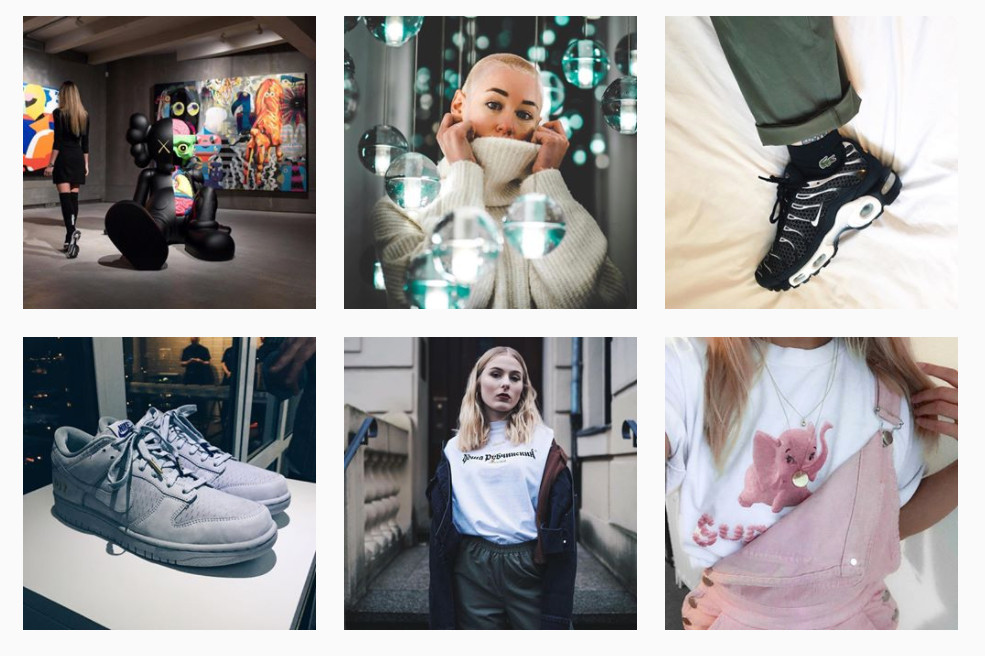 Instagram Follow Hashtags New Feature Streetwear Favorite Accounts Tags Sneakers Shoes Women in Streetwear Outfit Inspiration