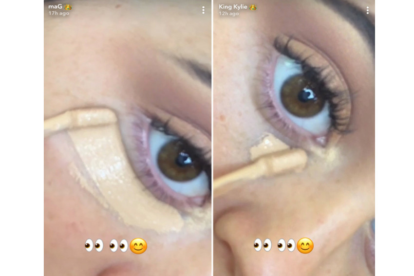 Kylie Jenner Teases Kylie Cosmetics Concealer Beauty Makeup Snapchat New Product