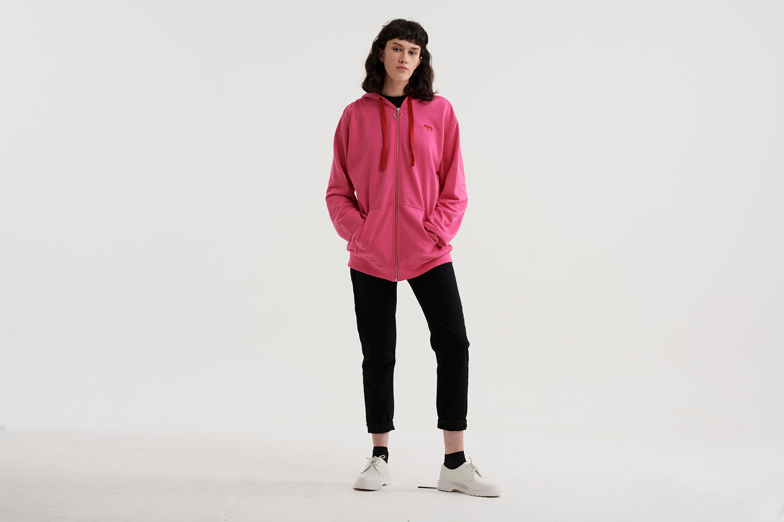 lazy oaf snoozing and losing pink oversized hoodie