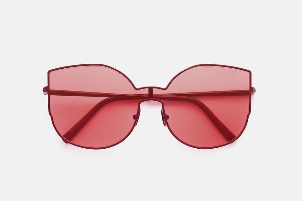 RETROSUPERFUTURE Lenz Amaranth Flat Top Sunglasses Shades Frames