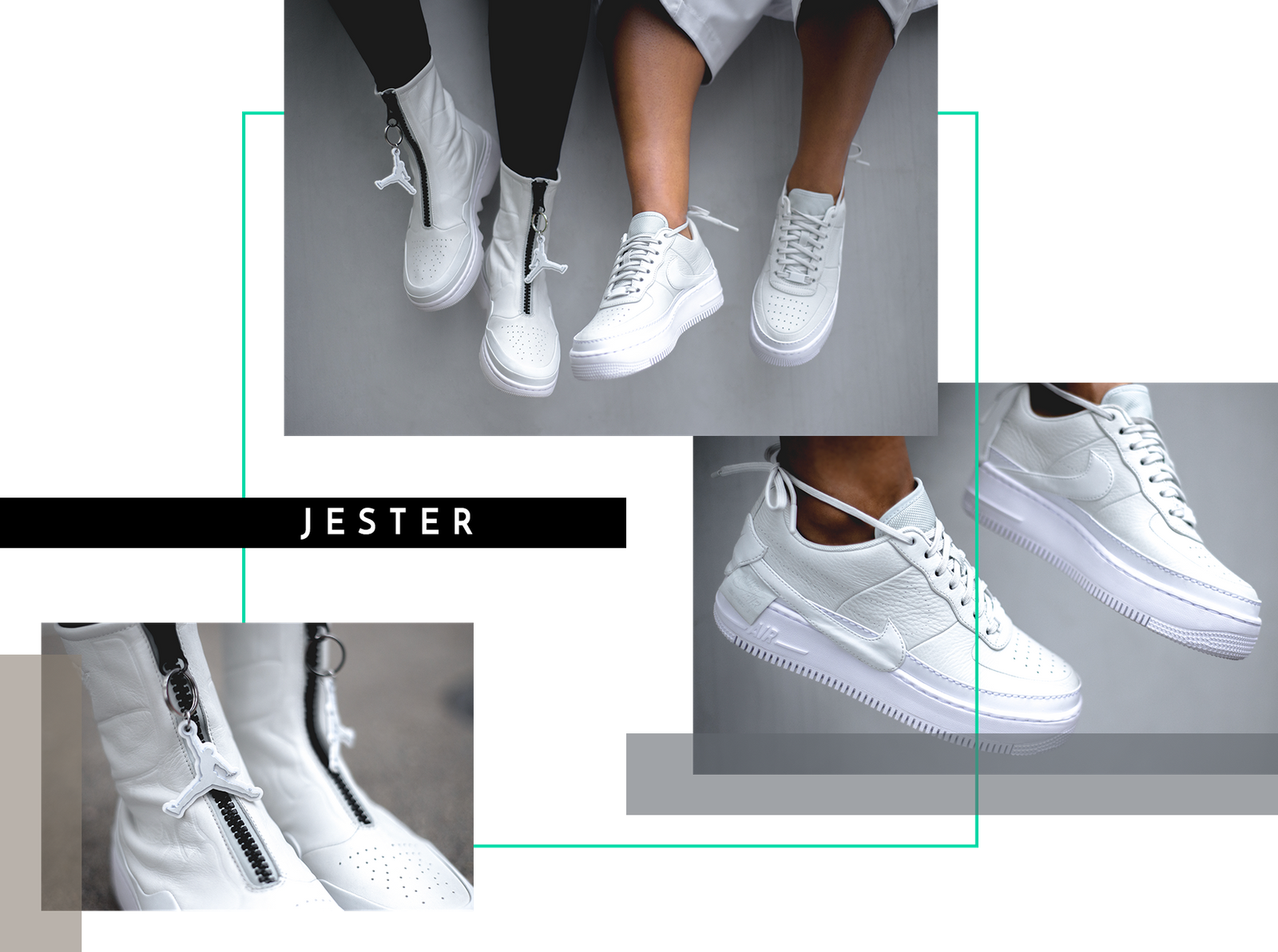 size 40 d8138 fe033 Nike The 1 Reimagined All Female Designers Collective Air Jordan 1 Air  Force 1 Jester Lover