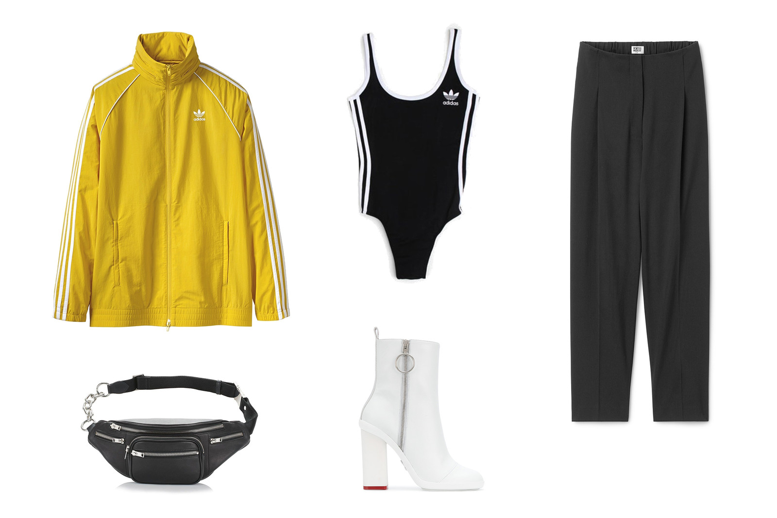 How to wear Body Suit Hypebae Look Outfit Inspo Ideas Kappa adidas Adicolor Gosha Rubchinskiy Prada Cloudbust Off-White