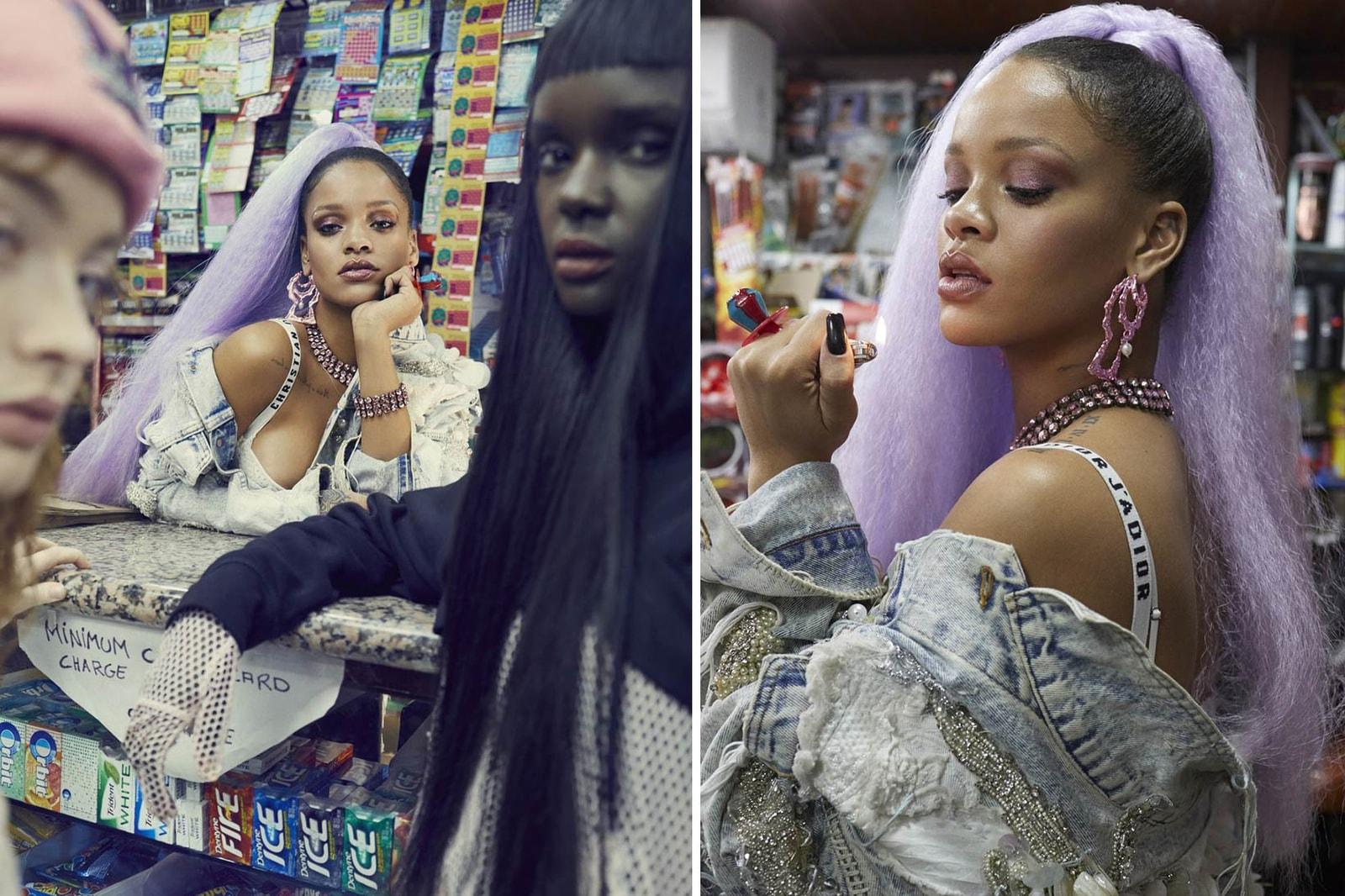 Chrishabana Good Girl Bad Girl Bamboo Earrings Pink Rihanna Paper Magazine