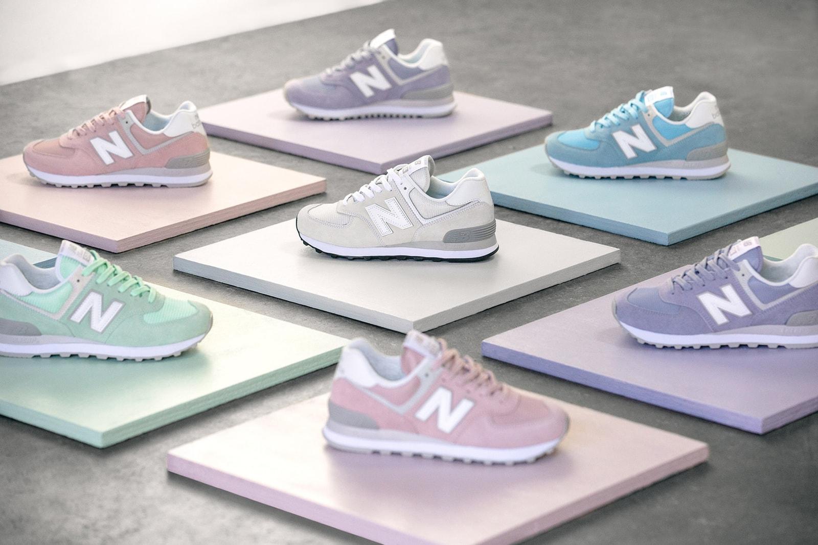 New Balance Classic 574 Pastel Pack Nike Air Max 180 Comme des Garcons Air More Uptempo ColourPop cosmetics lux lipsticks vegan arkk copenhagen desert camo where to buy