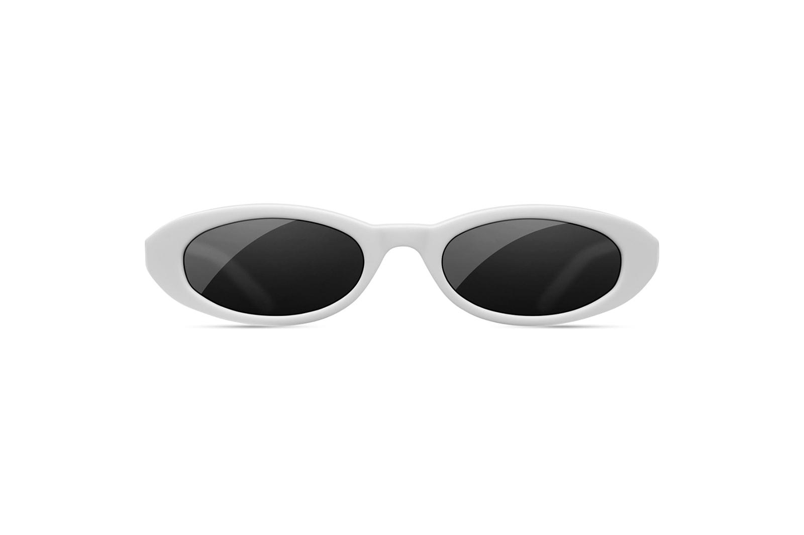 CHIMI eyewear round oval sunglasses brand mini small sci fi futuristic shades affordable stockholm label joel ighe pink white black unisex mens womens where to buy