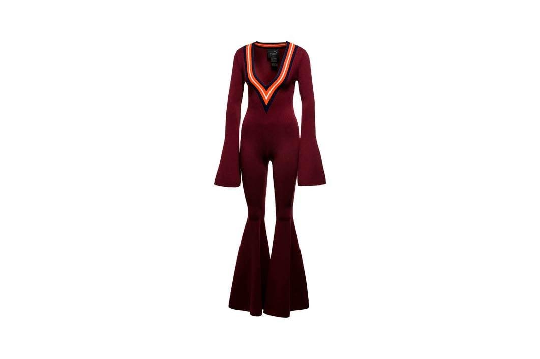 Fenty PUMA Rihanna Deep V Sweater Onepiece Tawny Port