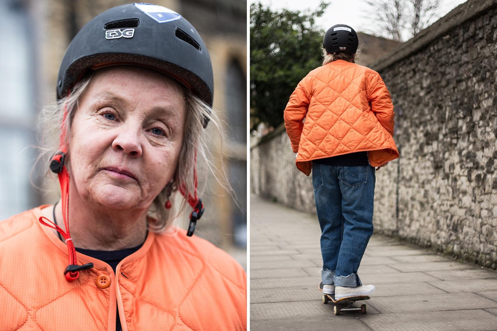 lena salmi very old skateboarders elderly skater skateboarder finland helsinki facebook group interview editorial