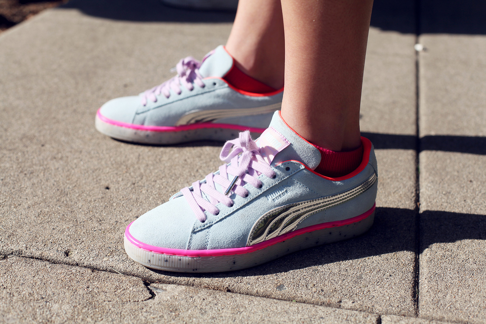 PUMA sophia webster spring summer 2018 ss18 princess puma glitter suede basket platform muse echo sneakers iridescent glittery sparkle womens apparel tutu collection collaboration