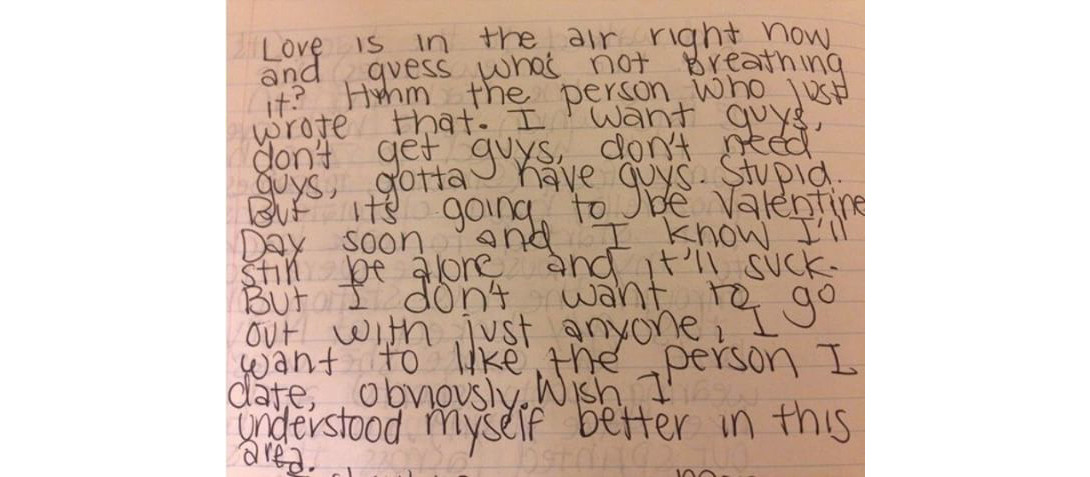 reader submissions instagram old diary entries teenagers