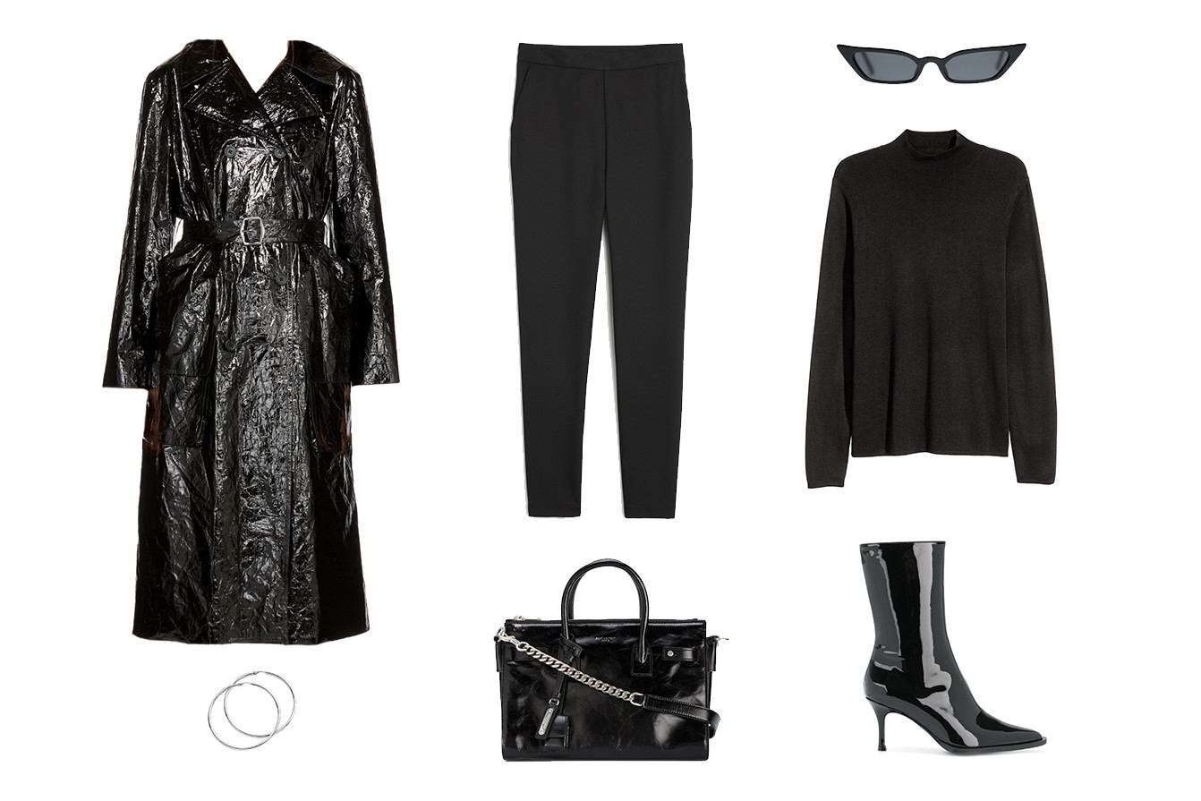How to Style the Matrix Look Small Sunglasses Style Guide Outfit Inspiration Shades Leather Futuristic Retro Future