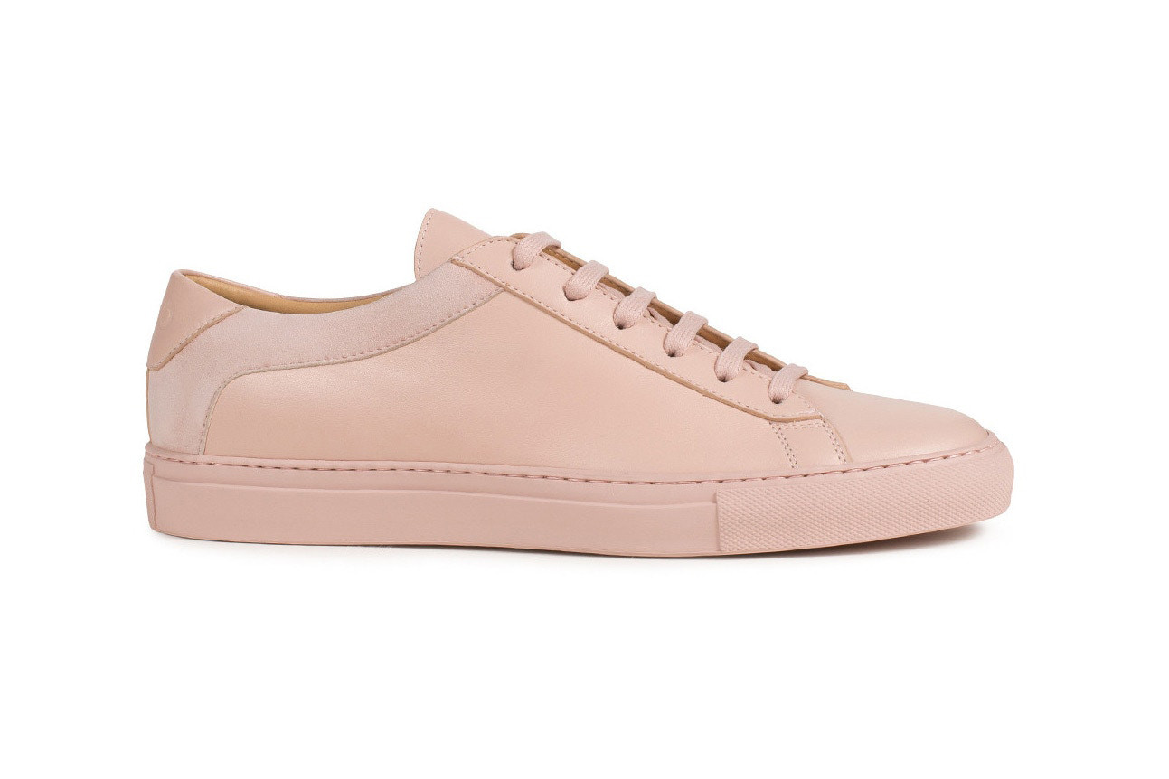 Koio Collective Capri Fiore Pink Sneaker Review Minimalist Minimalism Millennial Pastel Leather Suede Price Where to Buy Release Dusty