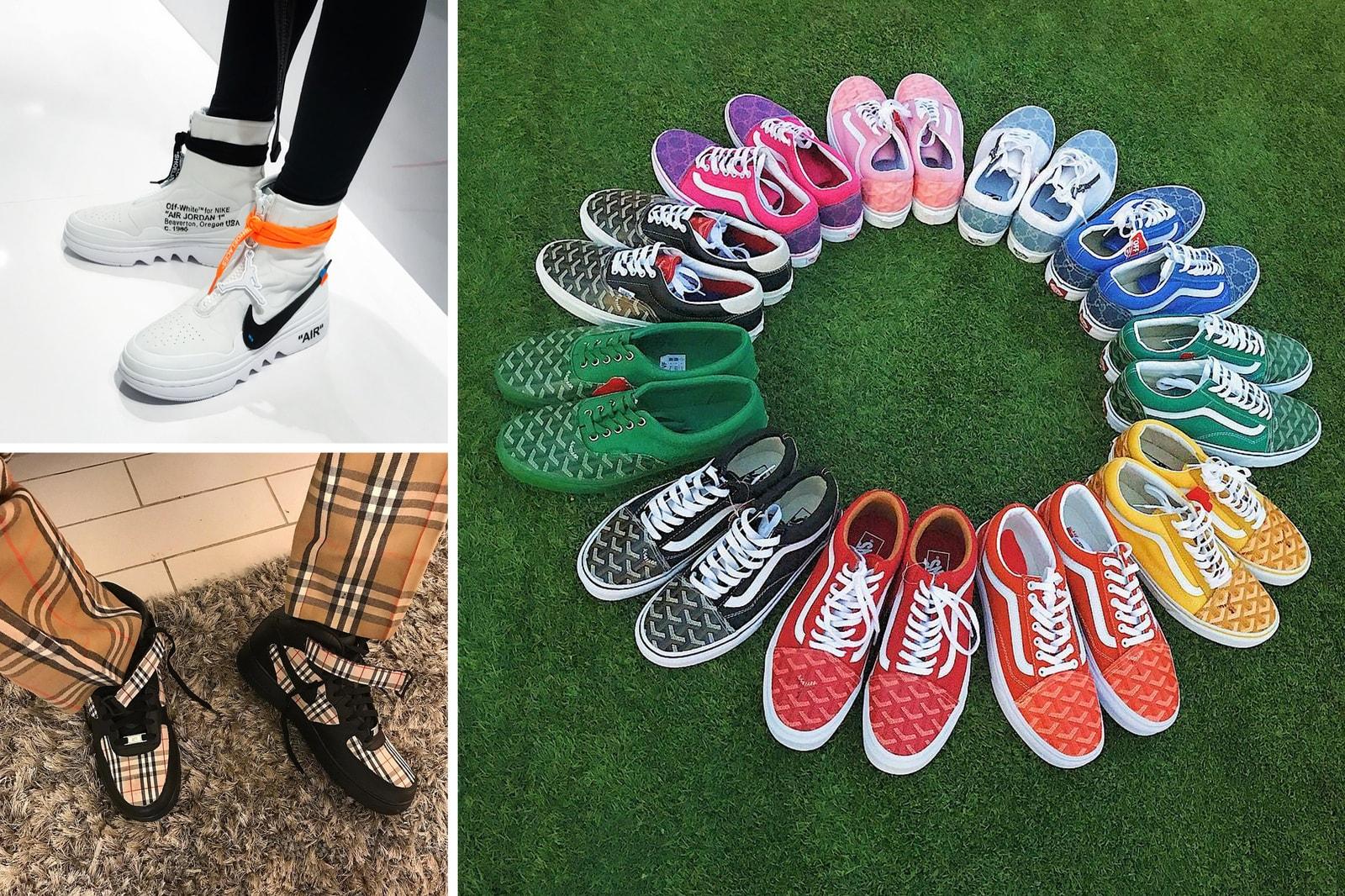 Best Custom Sneaker Instagram Accounts Shoe Surgeon Fre Customs Vandy the Pink VIjz Flanuerz Roller Skates Nike adidas Originals FILA Vans