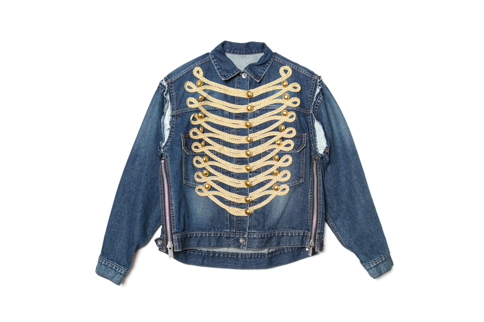 Dover Street Market x Sacai Gem Denim Jacket Collection Blue Black