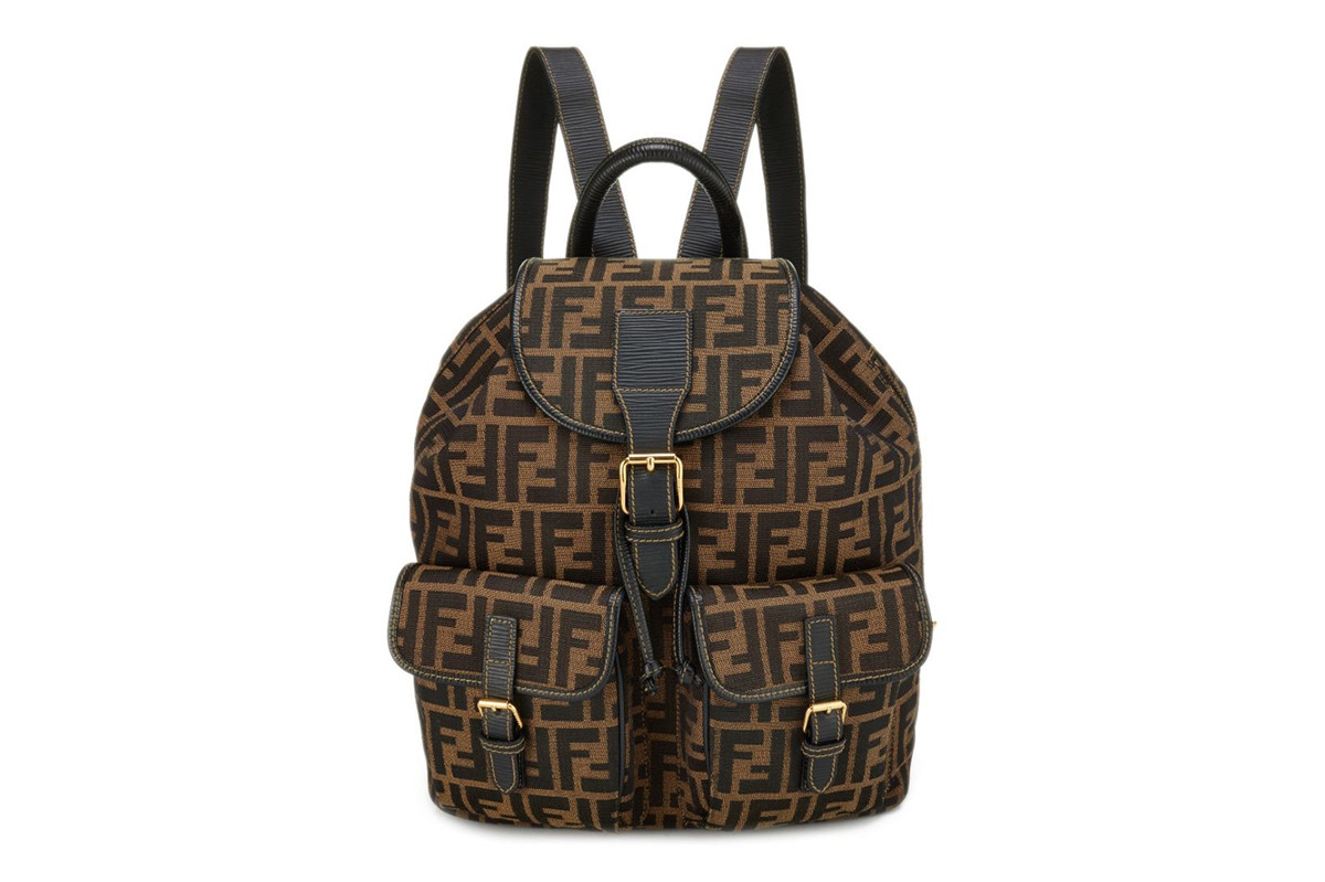 Fendi Vintage FF Zucca Logo History Karl Lagerfeld Fun Fur Bag Handbag Baguette Dress Pants Jeans Backpack Beanie Hat Kim Kardashian Gigi Bella Hadid Jhene Aiko Kylie Jenner Baby Stroller Nicki Minaj Where to Buy Price