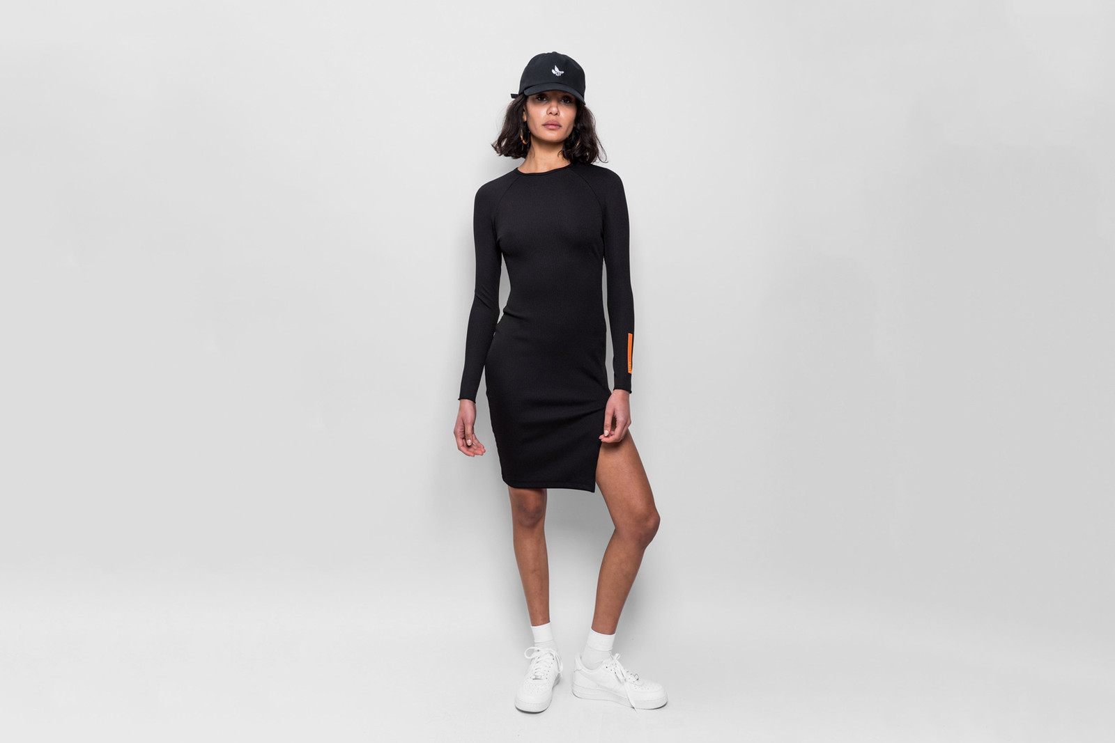 KITH Women Hanna Fitted Rib Dress Black