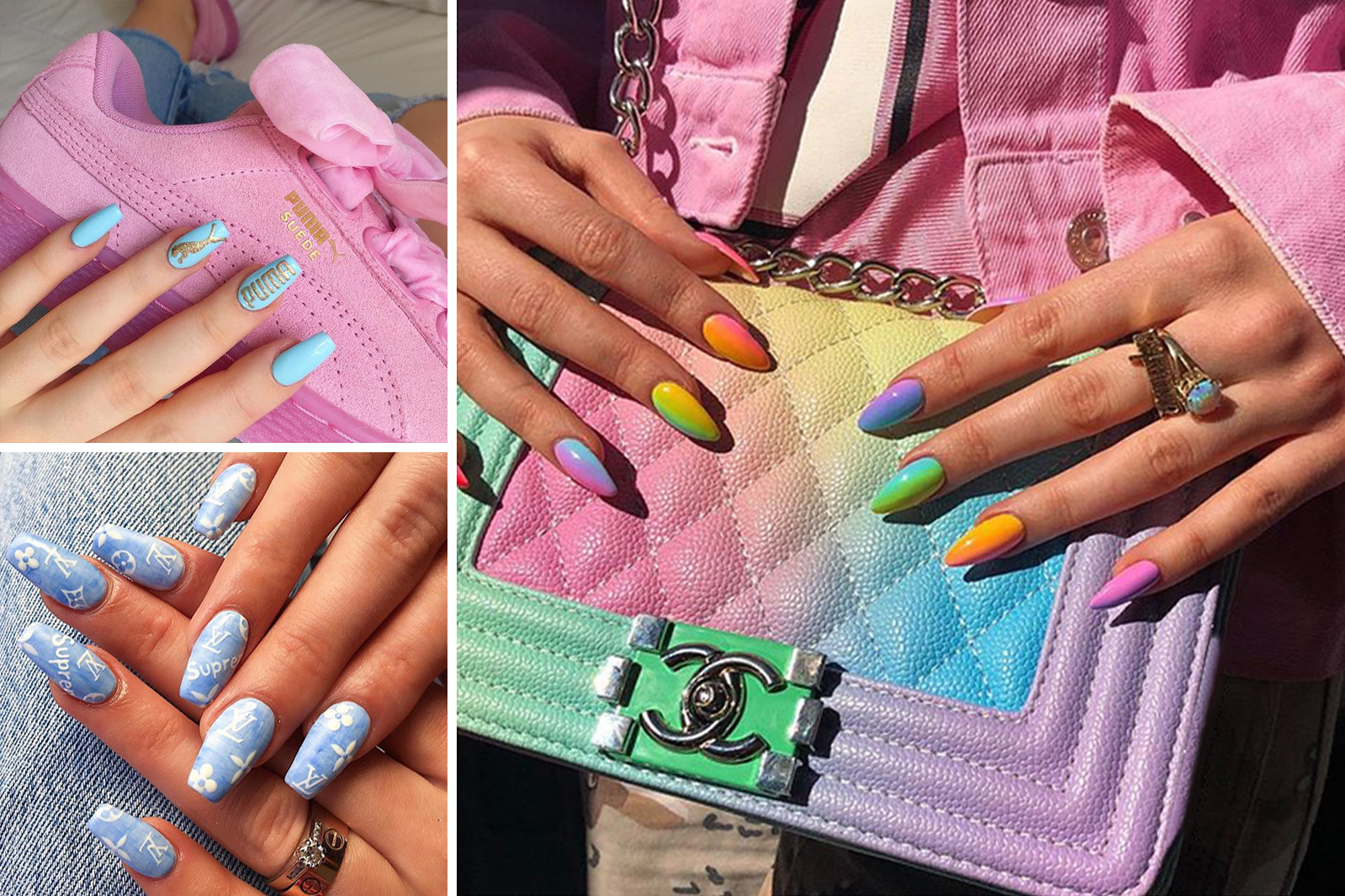 Mei Kawajiri Champion Logo Nails Manicure