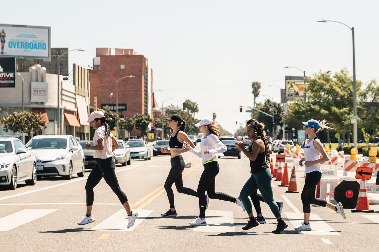 Nike Running Choose Go LA 10K Race Marathon Training Club Evemeetswest Evelynn Escobar Thomas Epic React Flyknit