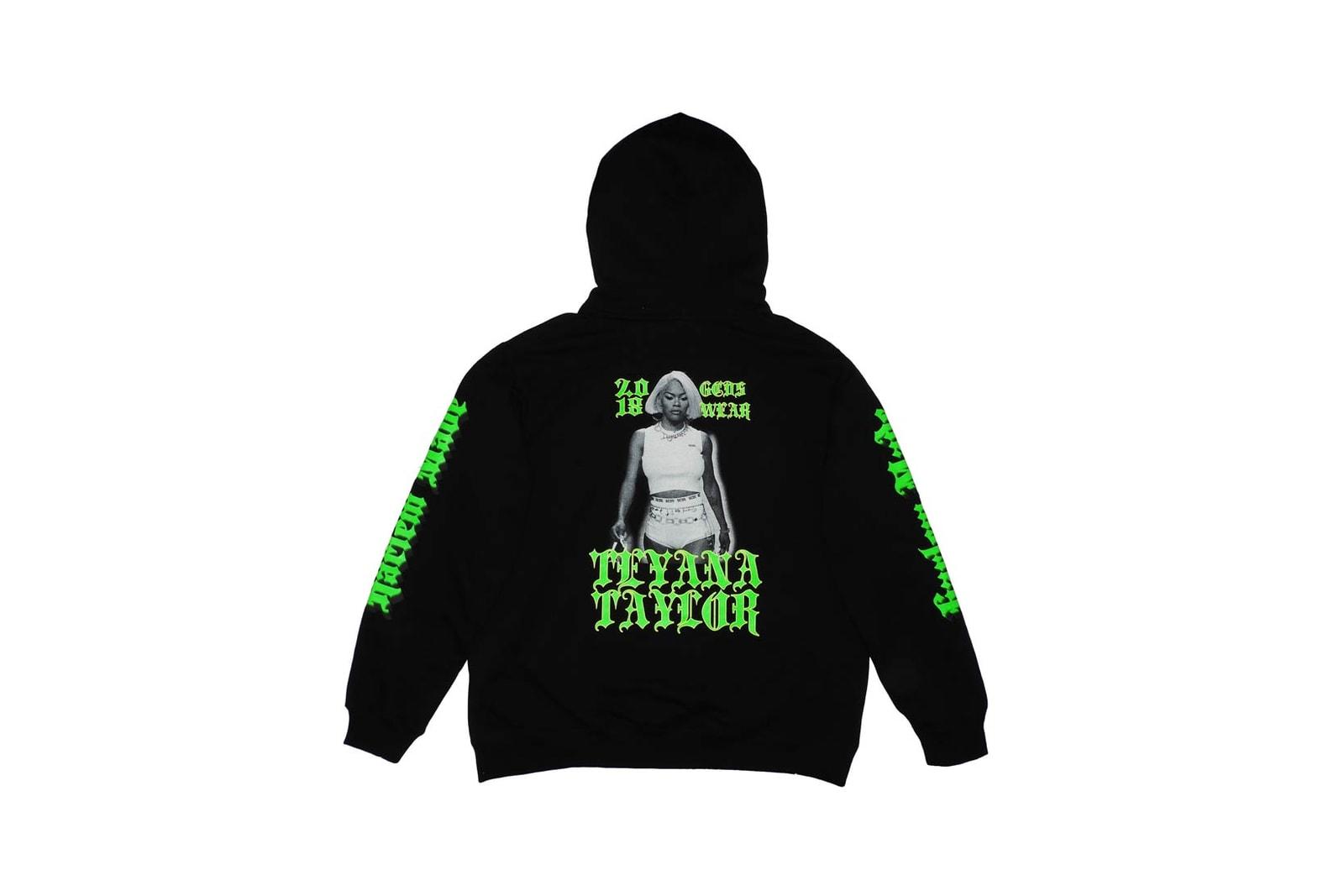 Teyana Taylor GCDS Harlem Made Hoodie T-Shirt Bodysuit Underwear Sock Hat