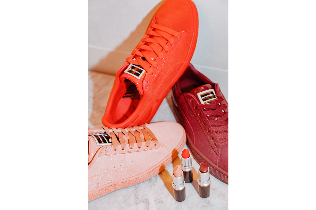 PUMA Suede 50 x MAC Pack Lady Danger Red