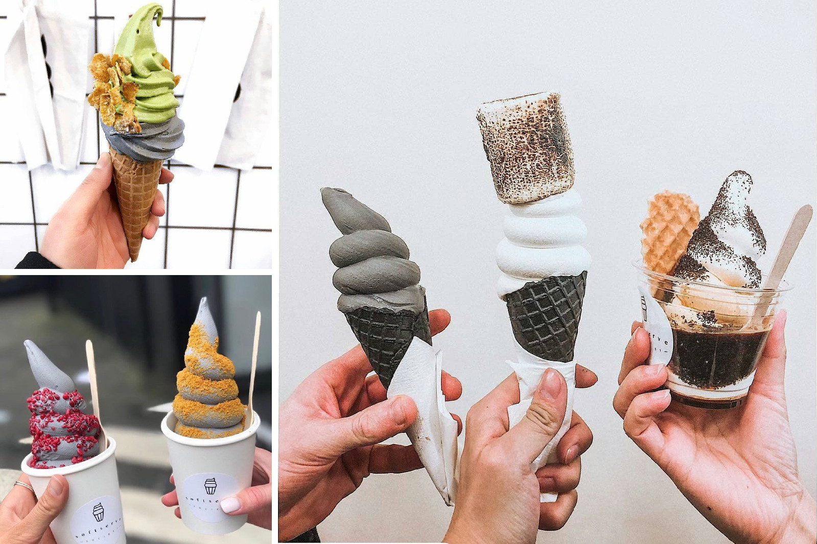Best Ice Cream Stores on Instagram Sweet Jesus Soft Serve Society Little Damage Eddy's Ice & Vice London New York NY LA Los Angeles Tokyo Toronto Canada