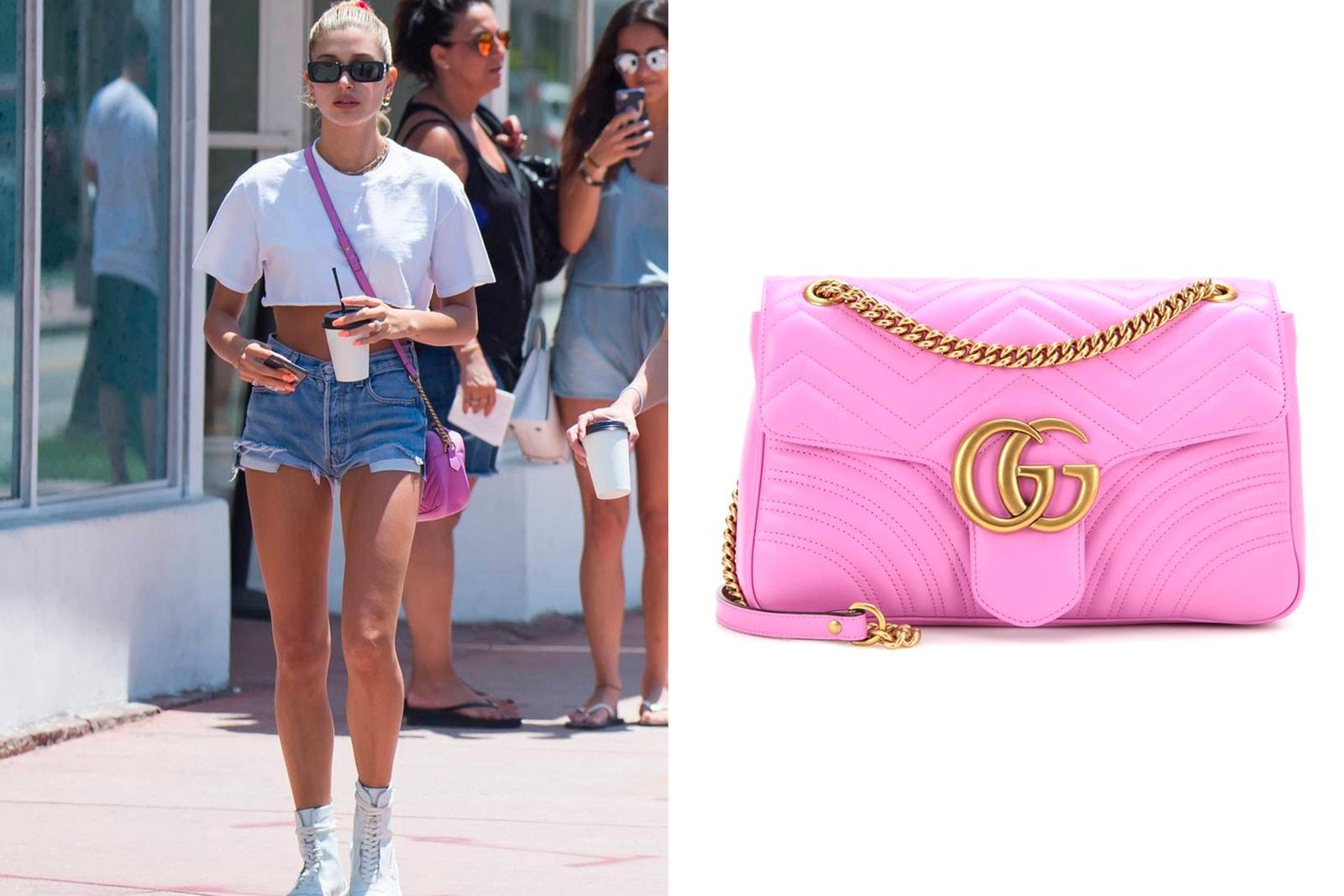 Celebrities Favorite Designer Bags Handbags Spring 2018 Rihanna Balenciaga Hailey Baldwin Gucci Kylie Jenner Proenza Schouler Kendall Jacquemus Bella Hadid Prada Irene Kim Loewe