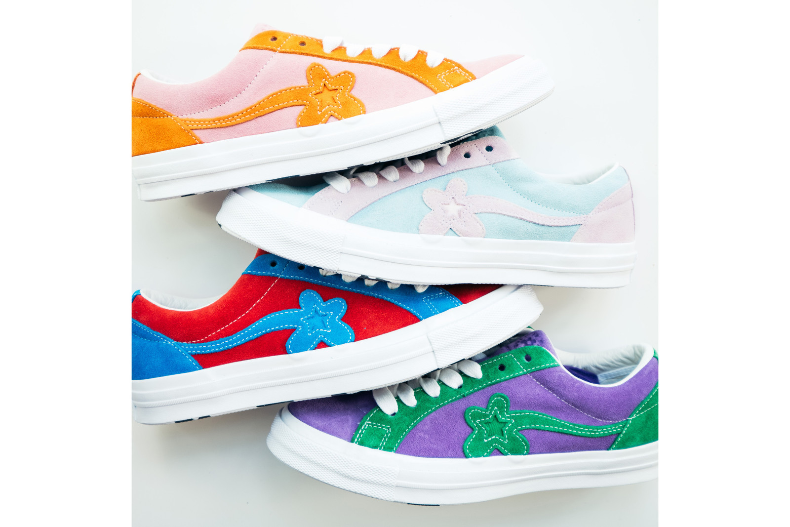 Tyler The Creator Converse GOLF Le FLEUR One Star Sneaker Red Blue Purple Green Pink Orange