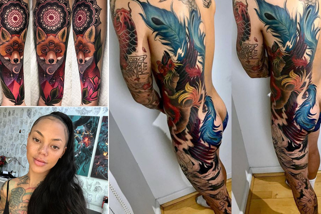 5 Tattoo Artists to Follow on Instagram Sasha Masiuk Baby Shoe Sophie Lee Miryam Lumpini