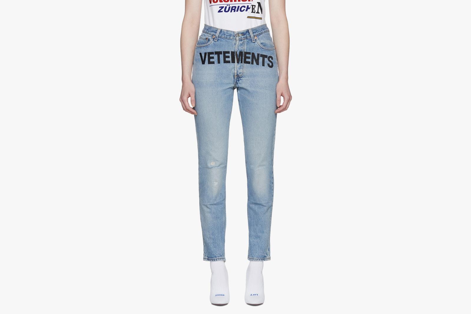 Luxury Denim from Balenciaga, Vetements Versace Helmut Lang Jeans Gosha Rubchinskiy Alexander Wang