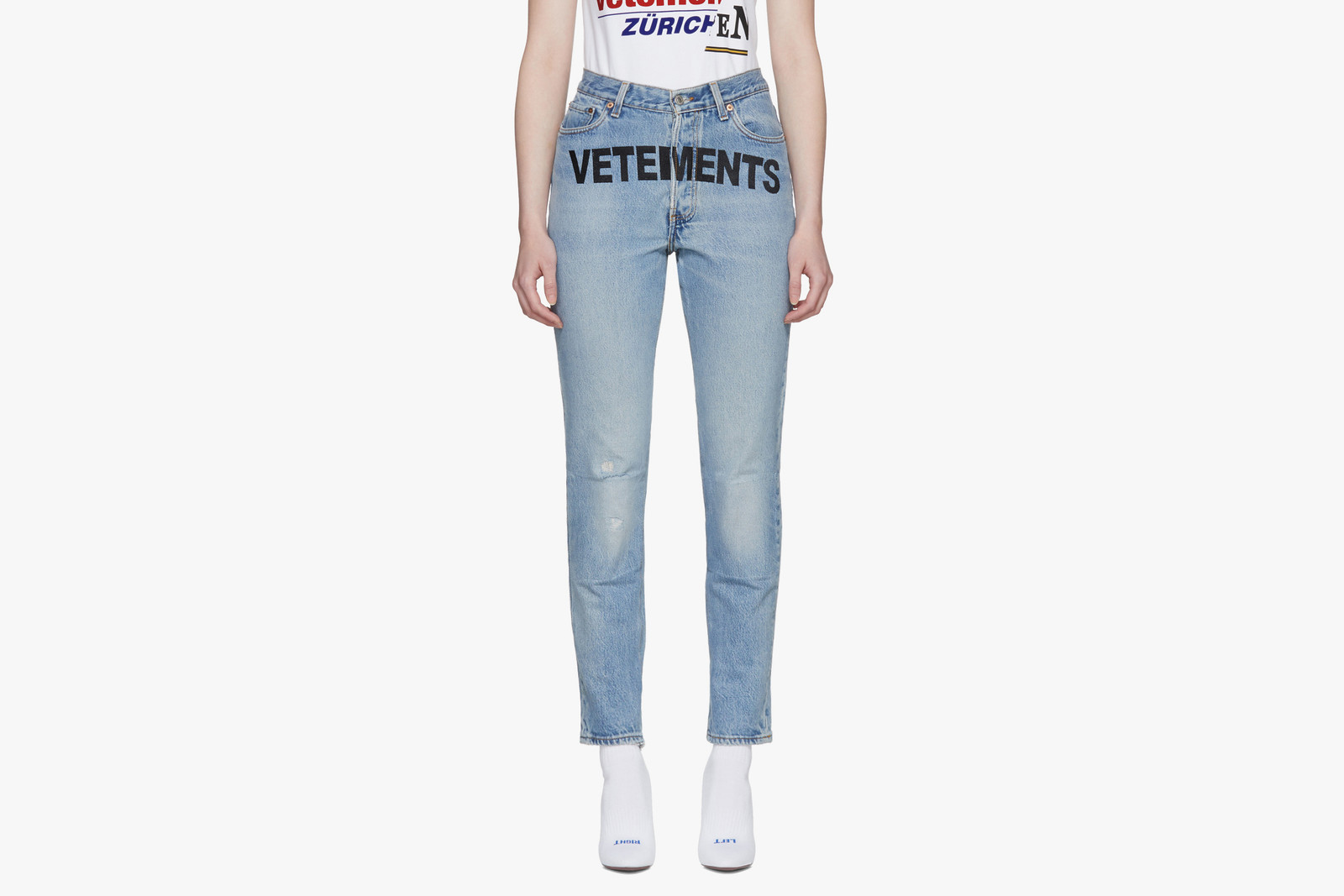 Luxury Denim from Balenciaga, Vetements Versace Helmut Lang Jeans Gosha Rubchinskiy Alexander Wang